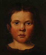 a pair of portraits of the artist's nephew and niece by fritz (georg urban f.) jürgensen