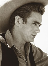 james dean on the set of the giant, marfa, texas by sid avery