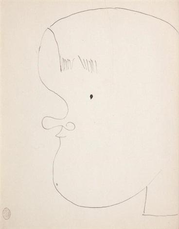portrait de georges auric by jean cocteau
