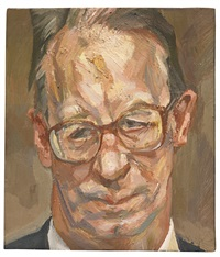 robert fellowes by lucian freud