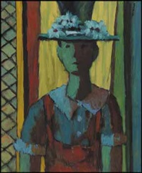 woman with a blue hat by jean-philippe dallaire