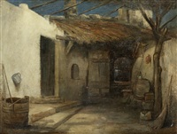 a courtyard by polychronis lembessis