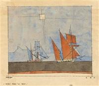 segelschiffe by lyonel feininger