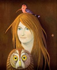 portret rudowłosej by kazimierz mikulski