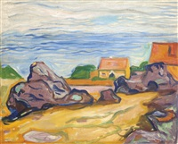 hus i borre (house in borre) by edvard munch