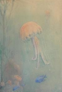 fonds marins aux méduses by henri verstijnen