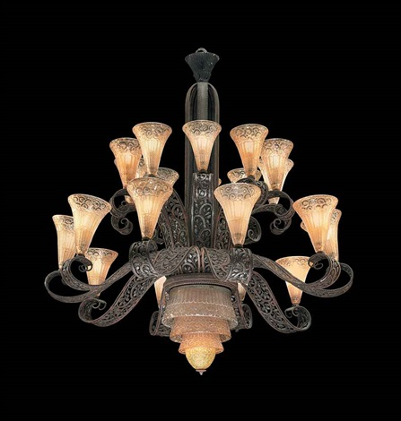 chandelier by daum and edgar brandt