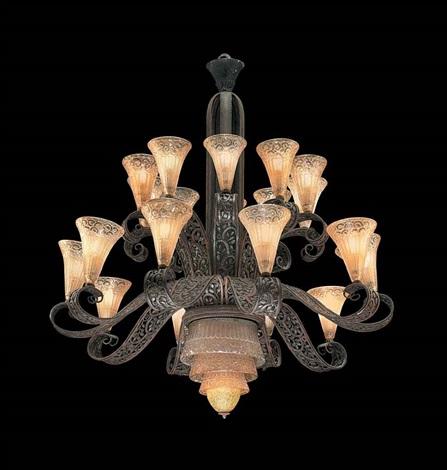 chandelier by daum and edgar-william brandt