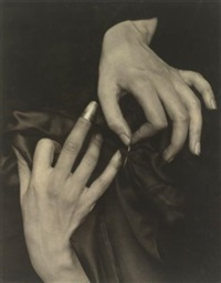 georgia o'keeffe -- hands and thimble by alfred stieglitz