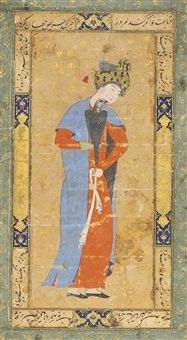 a youth with his falcon, nasta'liq by anonymous-iranian (17)