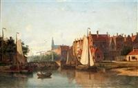 vue d'un canal à amsterdam by john frederik hulk the younger