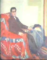 el maestro educacionista augustin scarone en el estudio del artista by guillermo laborde