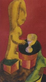 figur am tisch by reinhard hilker