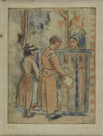 les mendiantes by camille pissarro