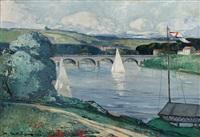 voilier sur un fleuve by marcel mettenhoven