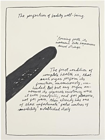 untitled (the perfection of bodily well-being) by raymond pettibon