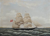the schooner alert of assens under the command of captain svinding by jens thielsen locher