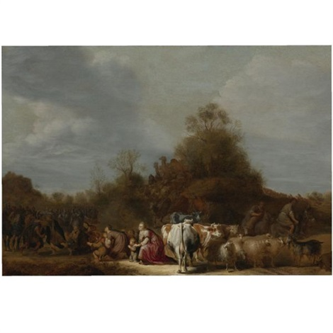 the meeting of jacob and esau by gerrit claesz bleker