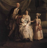 captain william locker and family by john francis rigaud