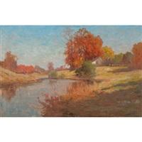 autumn landscape by alexander m. fleming