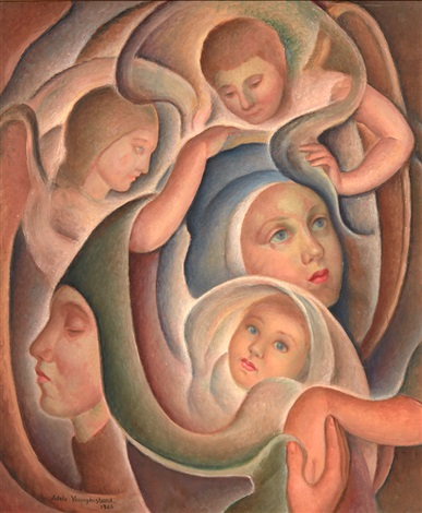 The Virgin And Child With St Anne And The Angels By Adele Younghusband On Artnet