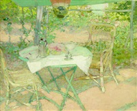 the garden at giverny by r.e. miller