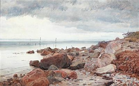 at the seaside by janus andreas barthotin la cour