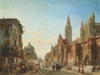 la procession des deux patronnes à seville by françois antoine bossuet