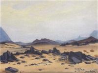 paysage du désert hoggar by camille leroy