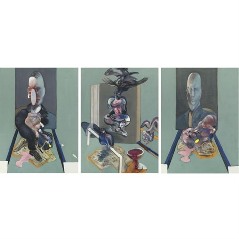triptych in 3 parts by francis bacon