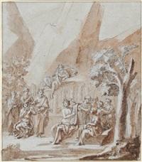 der wettkampf des apollon mit dem satyr marsyas by peter anton von verschaffelt