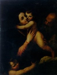 the holy family with the infant saint john the baptist by gaetano pignoni