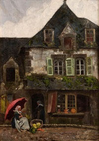 the old house, pont-aven by helen mable trevor