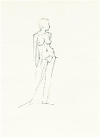 standing female nude by euan uglow