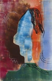 woman's head by hendrik nicolaas werkman