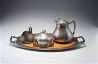 teeservice (set of 4) (+ kaffeekanne; 5 works) by albinmüller