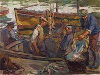 desembarcando pescado by cleto ciochini