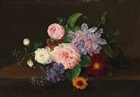 still life with flowers by johannes ludwig camradt