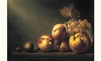 nature morte aux pêches, coing et raisins by harmen van steenwyck