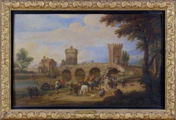 port et pont sur une rivière by mathys schoevaerdts