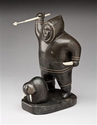 hunter and walrus by akeeaktashuk