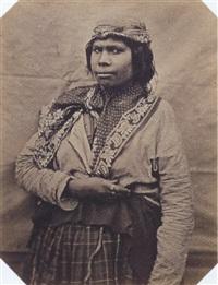 femme de la tribu des mics-macs by paul-emile miot