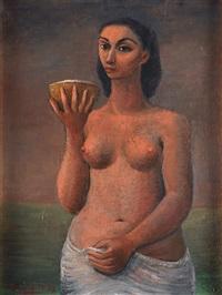 mujer con coco by emilio rosenblueth