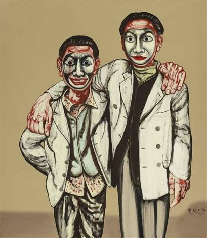 mask series: no. 10 by zeng fanzhi