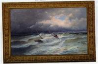 bateau dans la tempête by alfred godchaux