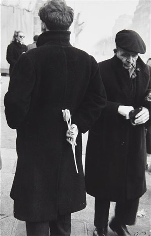 paris new year young man with tulip by robert frank
