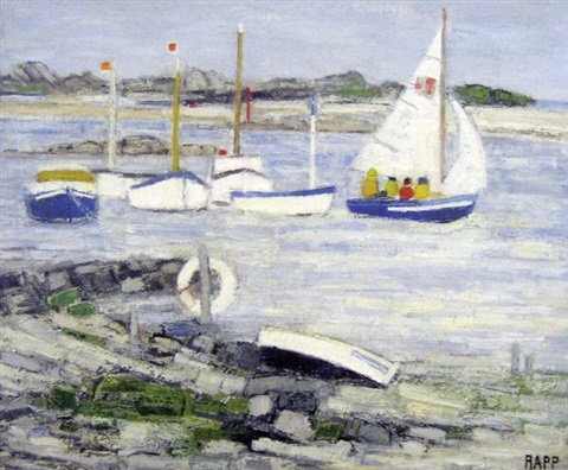 barques à marée haute port le goff by ginette rapp