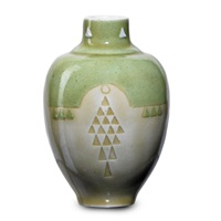 cabinet vase with geometric pattern by taxile doat