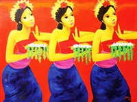 three dancers by gunawan bagea