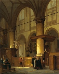 ein kircheninterieur by jan jacob schenkel